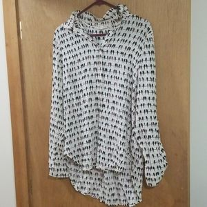 Jane and Delancey Bird Button down tunic